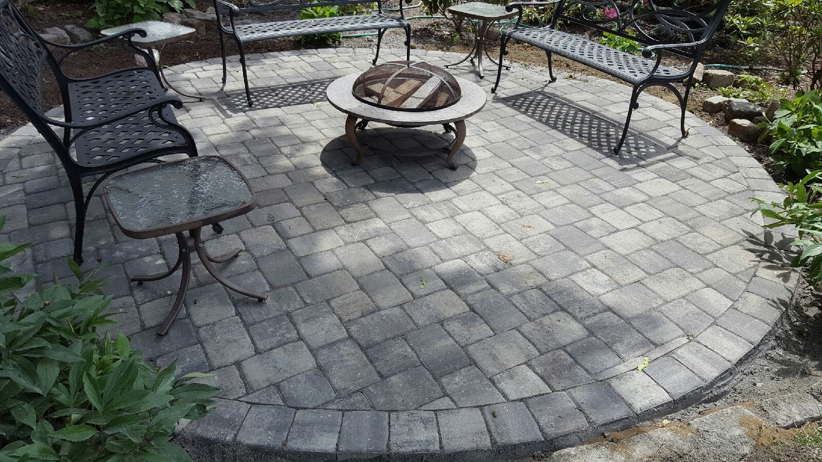 stone patio in Greenwich, CT