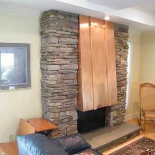 stone fireplace in Greenwich, CT